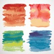 Set of watercolor backgrounds — Stock Vector