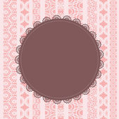 Elegant doily on lace background for scrapbooks — Stock Vector