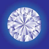 Diamante azul — Vector de stock