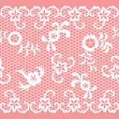 Seamless lace ribbon — Stock Vector