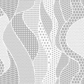Vektor tyg sömlös spetsmönster med linjer och vågor — Stockvektor