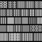 Set of 26 monochrome elegant seamless patterns — Stock Vector #31677167