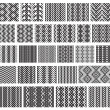 Set of 26 monochrome elegant seamless patterns.Vector ornaments. — Stock Vector #31677417
