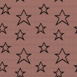 Lace seamless pattern with stars. Vector mesh. — Stock Vector