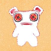 Roztomilá malá příšerko — Stock vektor