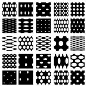 Set of elegant dot patterns in black and white. — Stock Vector