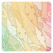 Lacy vintage background in soft colors. — Stock Vector