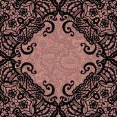 векторные черного кружева на текстуру, шаблон. — Cтоковый вектор