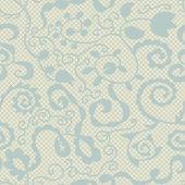 Krajka vektor tkanina vzor bezešvé s květinami — Stock vektor