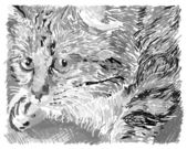 Illustration of sweet pussycat — Stock Vector