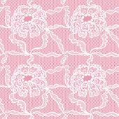 Wzór koronki z kwiatami — Wektor stockowy
