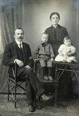 Vintage family portrait. — Stock Photo