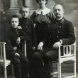 RUSSIAN EMPIRE - CIRCA 1900:Vintage family portrait. Mother, father and children. — Stock Photo