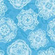 Lace seamless pattern with doilies — Image vectorielle