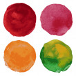 Set of watercolor round background — Stockvektor