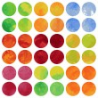 Set of watercolor round background — Stock Vector