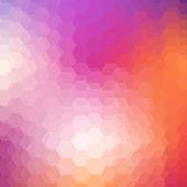 Geometrické zářný vzor s šestiúhelníky — Stock vektor