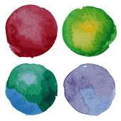 Set di acquerello sfondo tondo — Vettoriale Stock