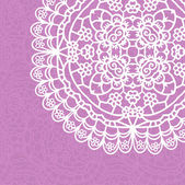 Vintage lace invitation card — Vetor de Stock