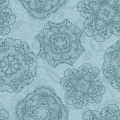 Lace seamless pattern with doilies — Vecteur