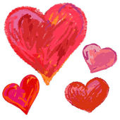 Hand drawn hearts. — Stock Vector