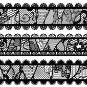 Set of lacy vintage trims. — Stock Vector