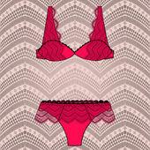 Lacy bra and panties — Stockvektor