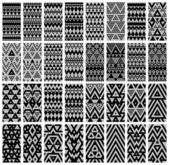 Tribal lace patterns — Stock Vector