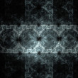 Abstract fractal white on the black background — Stock Photo