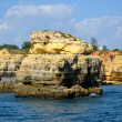 Cliffs yellow Albufeira in the Algarve — Stock Photo