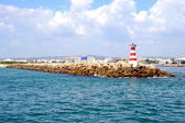 Phare rouge, vilamoura, portugal, europe — Photo