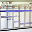 Close up shot of a detailed Gantt Chart that illustrates a project — Foto de stock #31064931