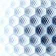 Stock Photo: Abstract digital fractal hex blue art