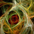 Colorful abstract digital fractal art on the black background — Stock Photo