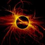 The eye of God - Solar Eclipse — Stock Photo
