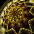 Abstract digital star fractal art on perspective — Stock Photo