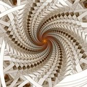 Abstract fractal spiral on the white background — Stock Photo
