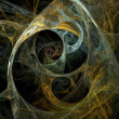 Abstract fractal on the black background — Stock Photo