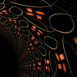 Fractal abstraction tunel, digital artwork for creative graphic   — Stock Photo