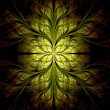 Yellow flower pattern modern fractal art design — Stock Photo