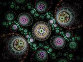 Colorful clockwork pattern, digital fractal art design — ストック写真