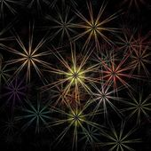 Beautiful colorful fractal fireworks on the black background — Foto de Stock