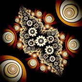Colorful flower pattern modern fractal art design — 图库照片