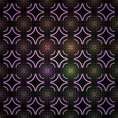 Modello cerchio geometrico senza soluzione di continuità, texture frattali colorati — Foto Stock