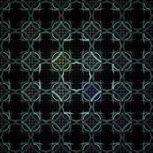 Seamless geometric circle pattern, colorful fractal texture — Stock Photo