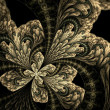 Symmetrical fractal flower, digital artwork for creative graphic — Stock Photo