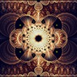 Stock Photo: Symmetrical fractal flower, digital artwork for creative graphic