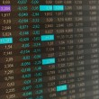 Stock Photo: Stock quotes, real time quotes at stock exchange, market