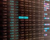 Stock quotes, real time quotes at the stock exchange, market — Stock Photo