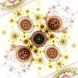 Stock Photo: Colorful clockwork pattern, digital fractal art design